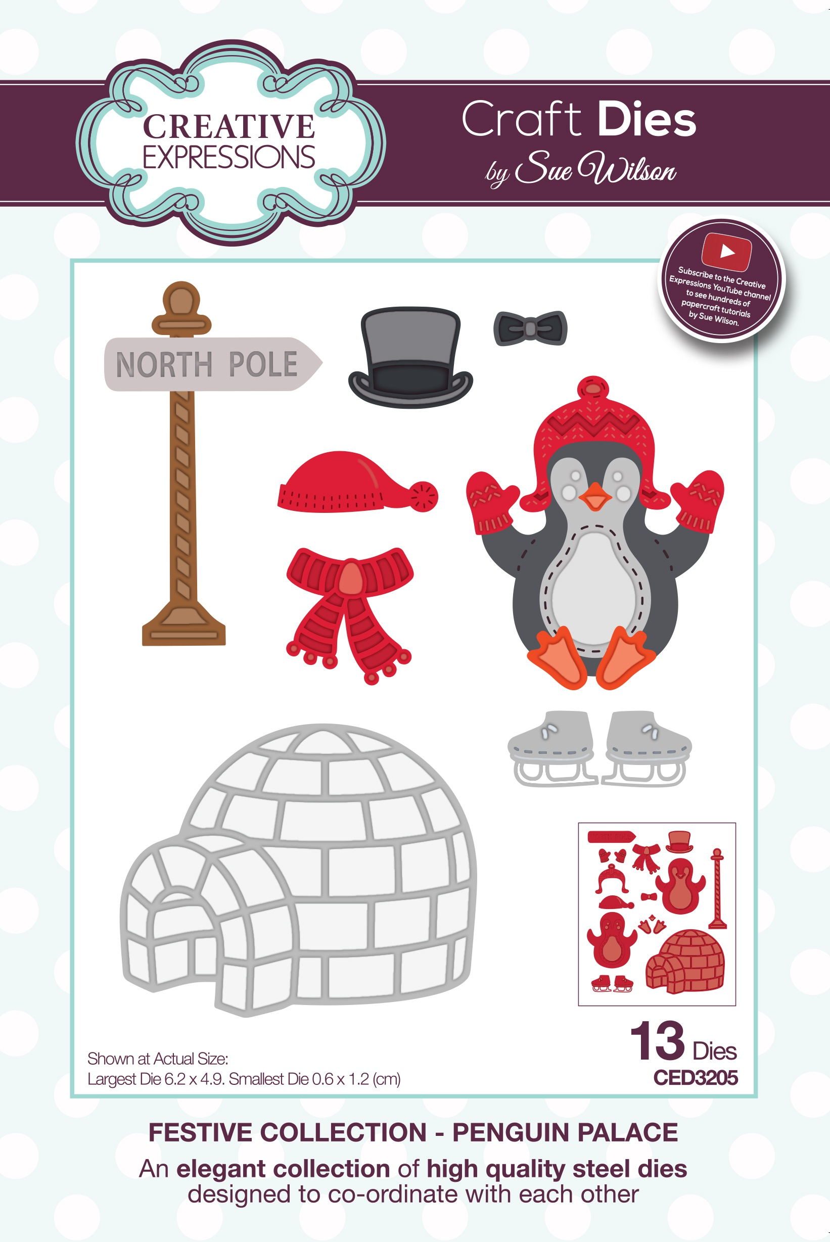 Creative Expressions Craft Dies By Sue Wilson-Penguin Palace