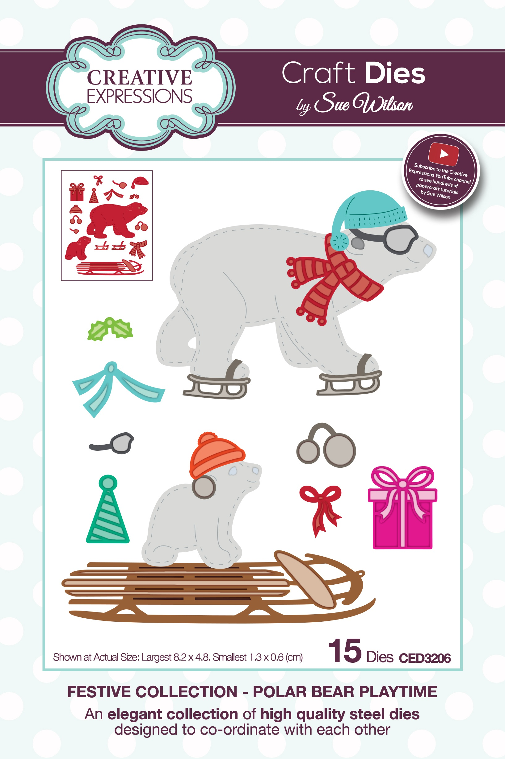 Creative Expressions Craft Dies By Sue Wilson-Polar Bear Playtime