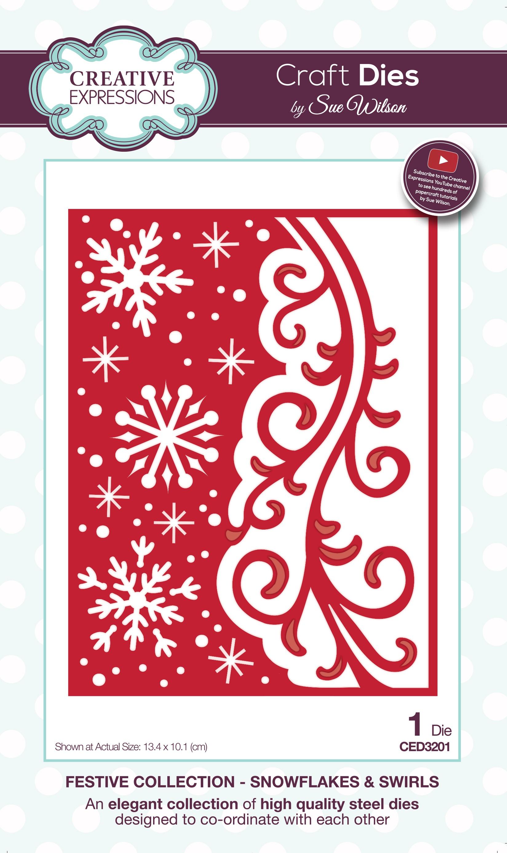 Creative Expressions Craft Dies By Sue Wilson-Snowflakes & Swirls