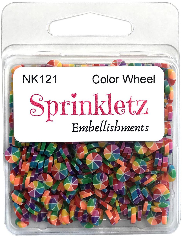 Buttons Galore Sprinkletz Embellishments 12g-Color Wheel
