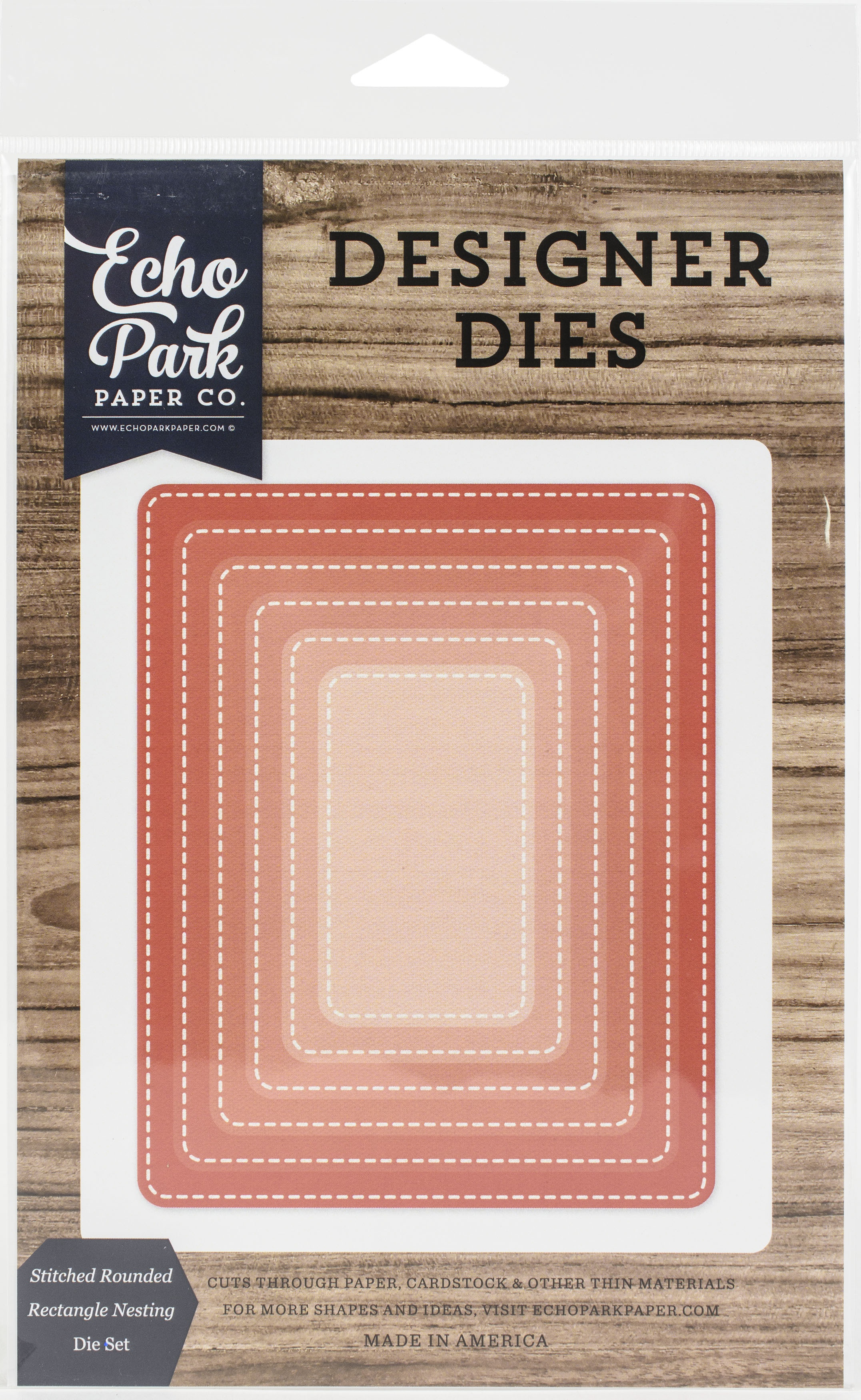 Echo Park Nesting Dies-Stitched Rounded Rectangle