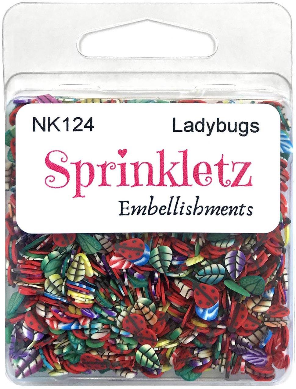 Buttons Galore Sprinkletz Embellishments 12g-Ladybugs