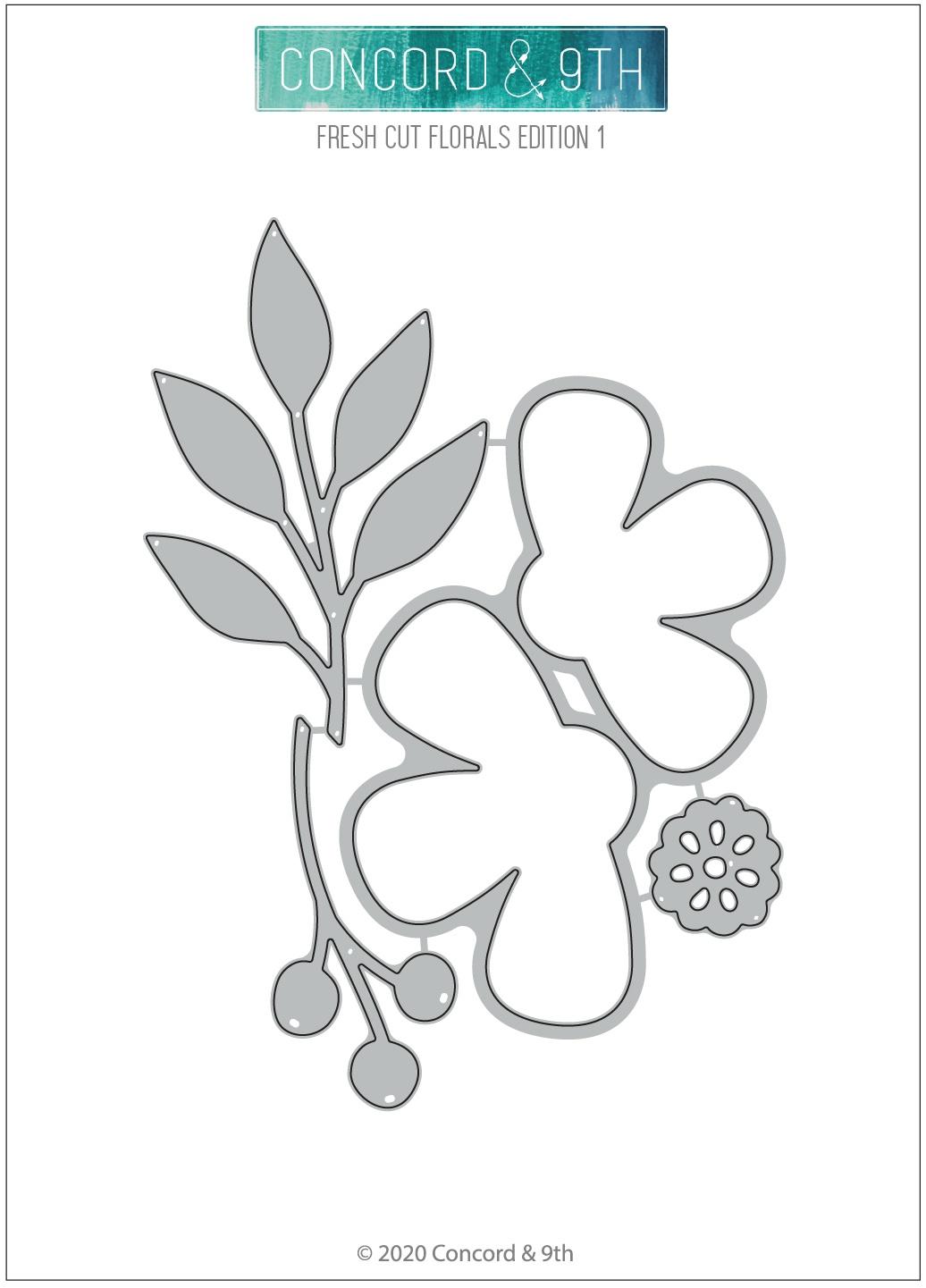 Concord & 9th Dies-Fresh Cut Florals Edition 1