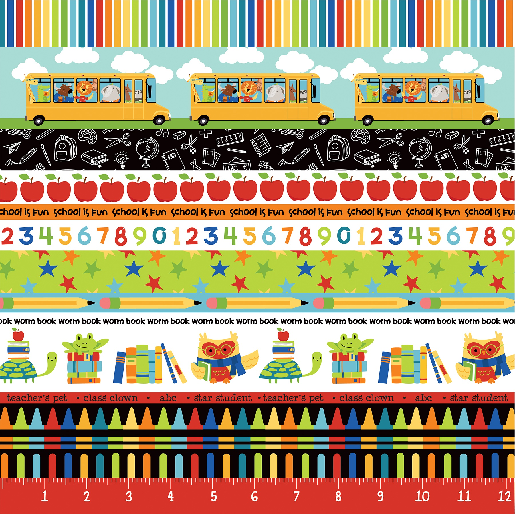 Recess Double-Sided Cardstock 12X12-The Bus