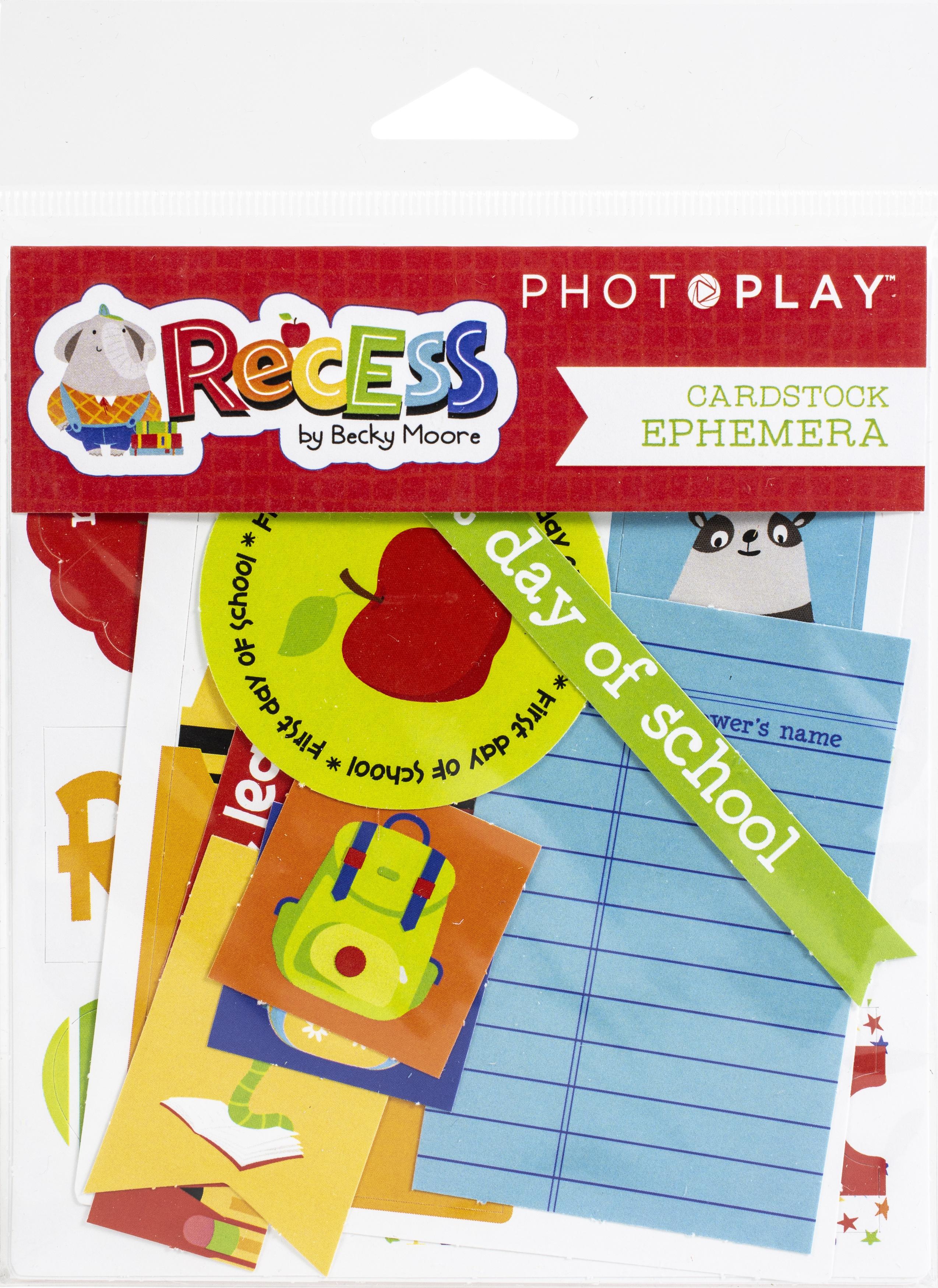 PhotoPlay - Recess Ephemera Cardstock Die-Cuts