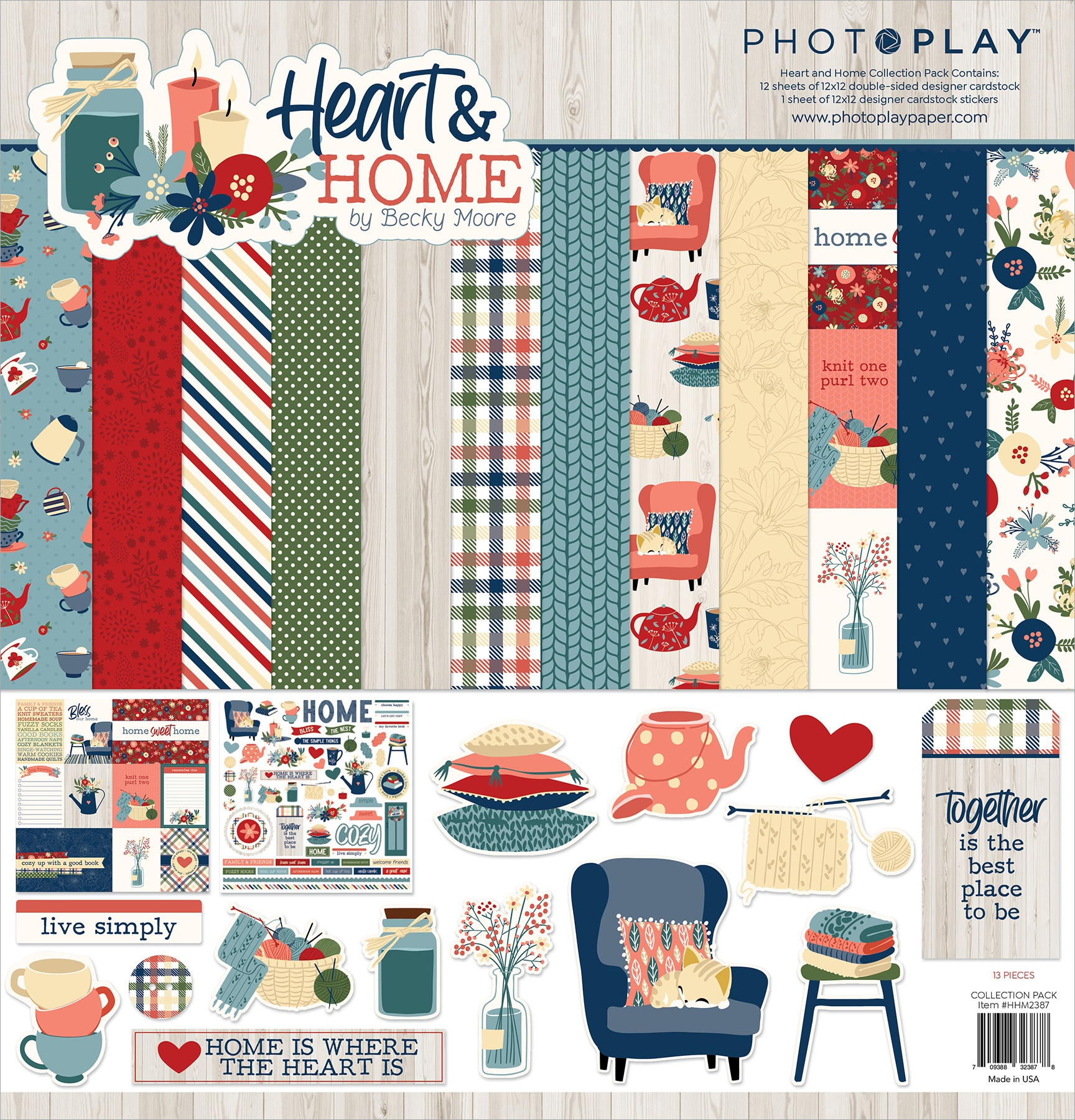 PhotoPlay Collection Pack 12X12-Heart & Home