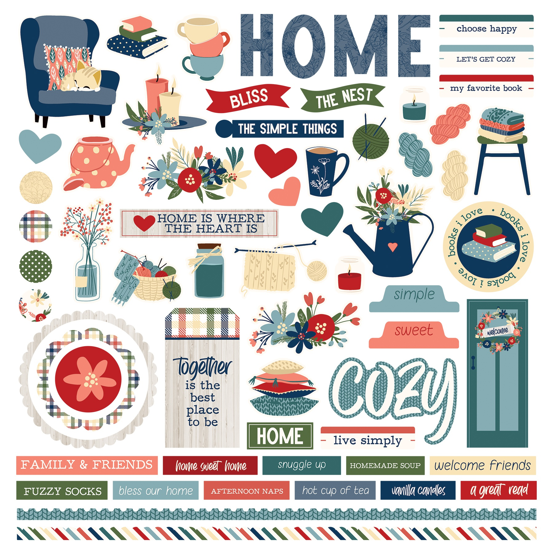 Heart & Home Stickers