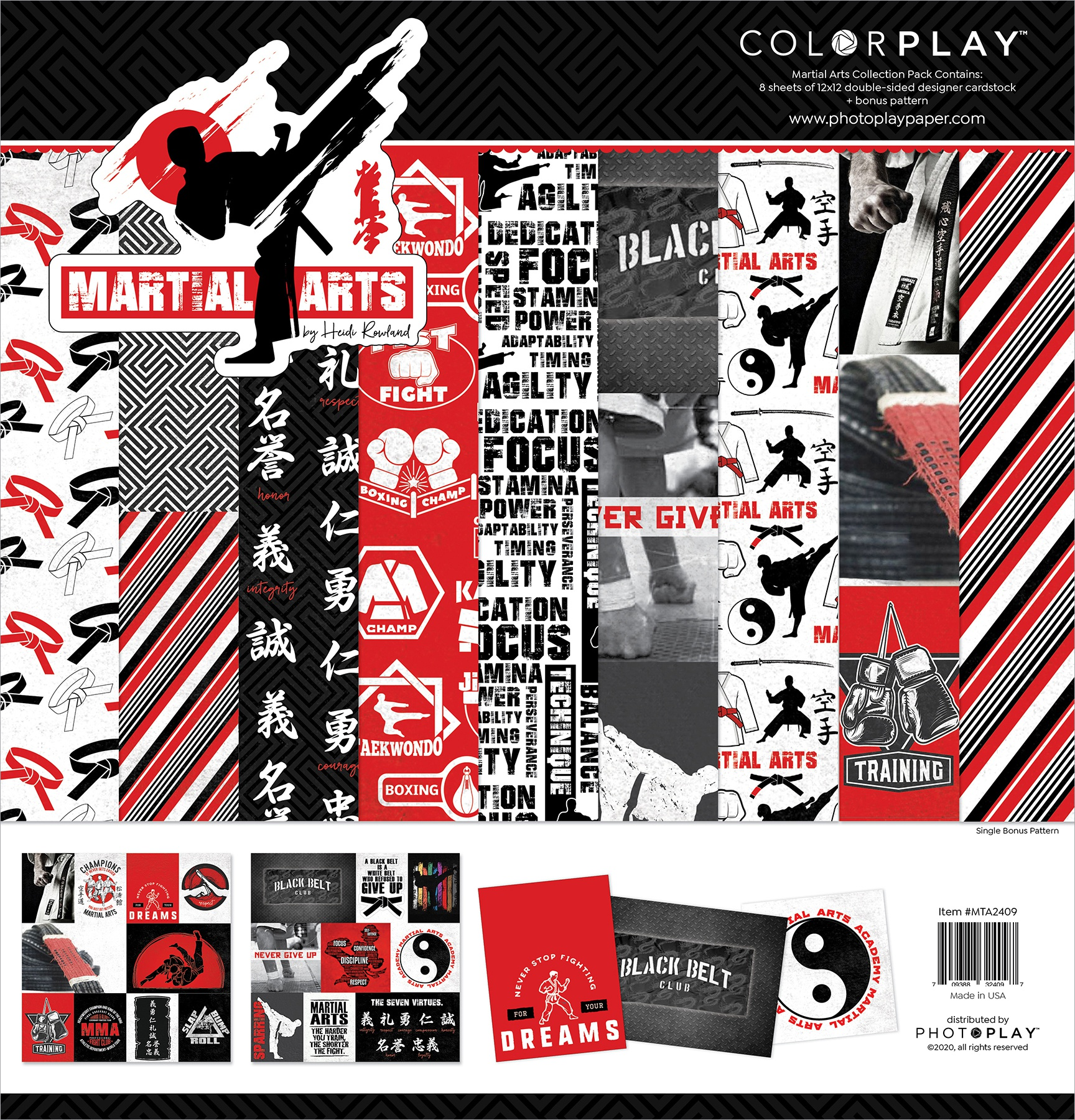 ColorPlay Martial Arts Collection Pack 12x12