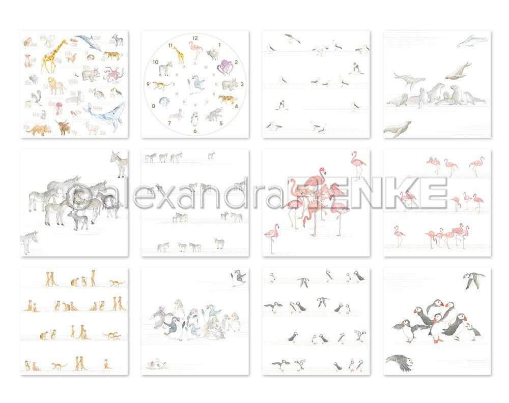 Alexandra Renke Design Paper Pack 6X6 12/Pkg-School, 12 Designs