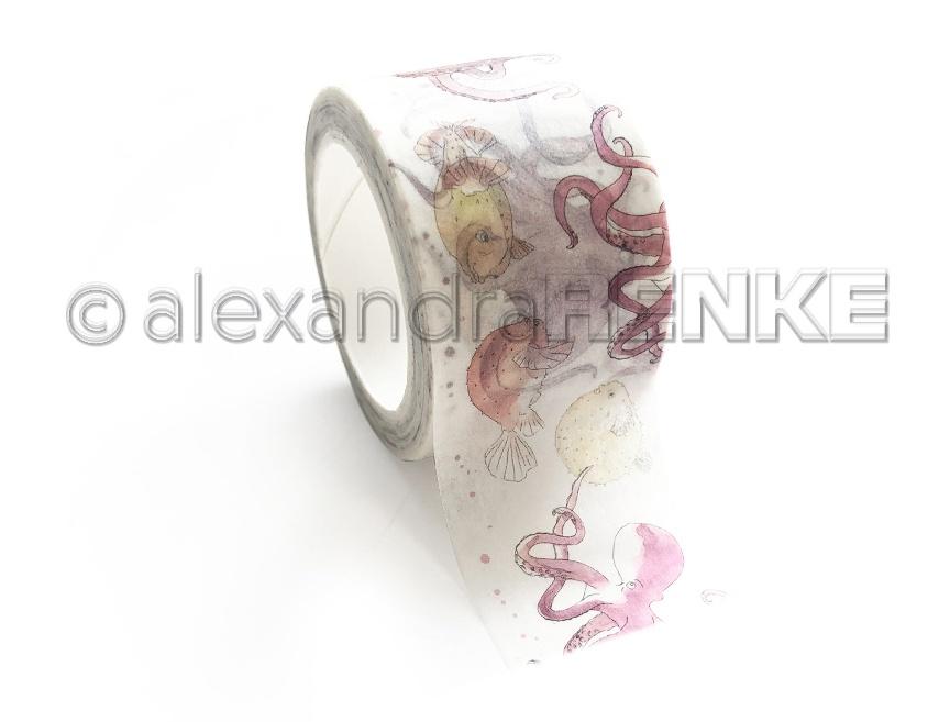 Alexandra Renke Washi Tape 30mmX10m-Sea Animals, School
