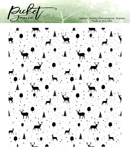 Picket Fence Studios 4X4 Stamp Set-Reindeer Games