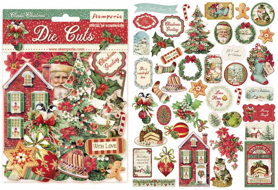 Stamperia Die-Cuts-Classic Christmas