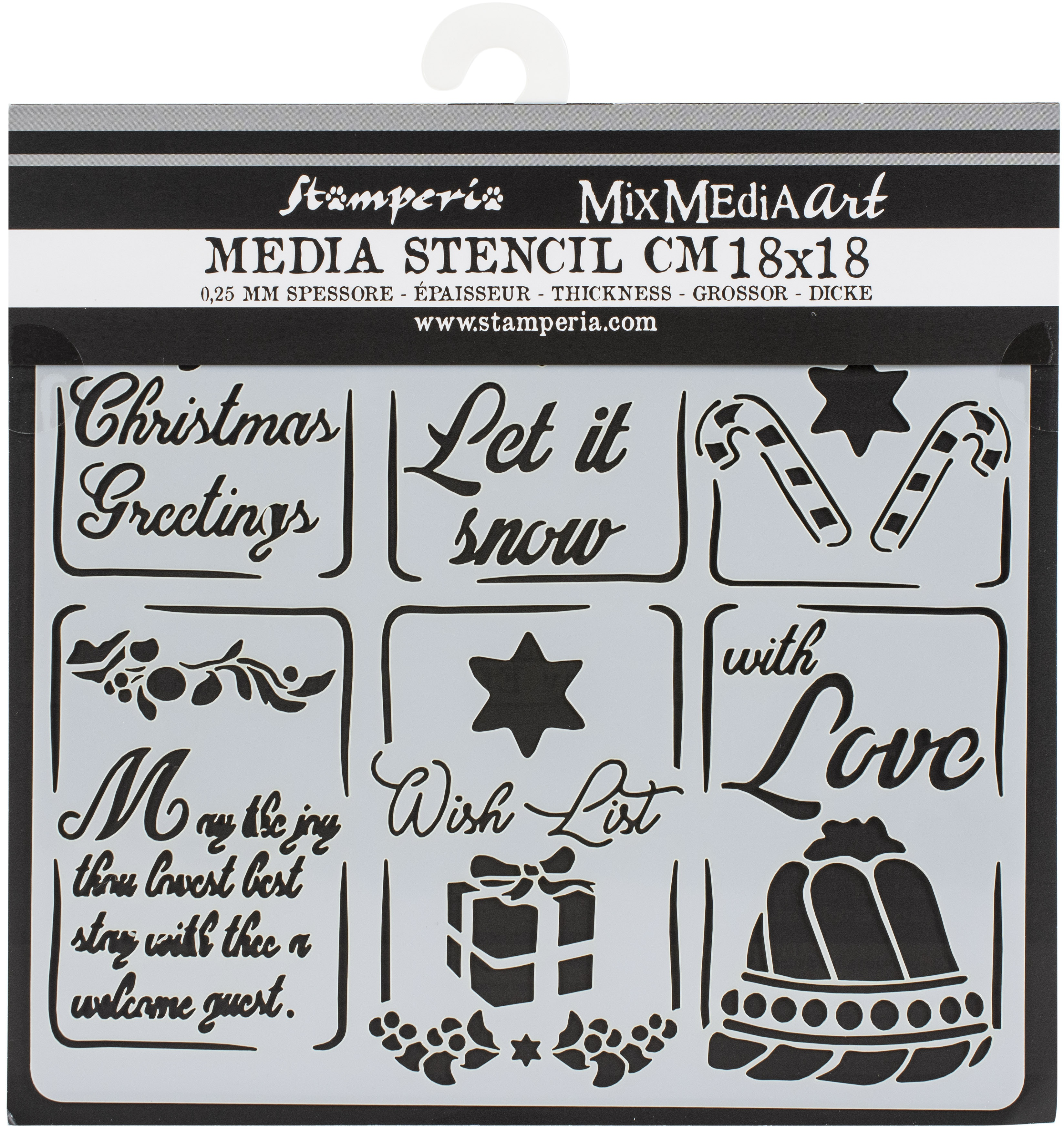 Stamperia Stencil 7.08X7.08-Christmas Tags