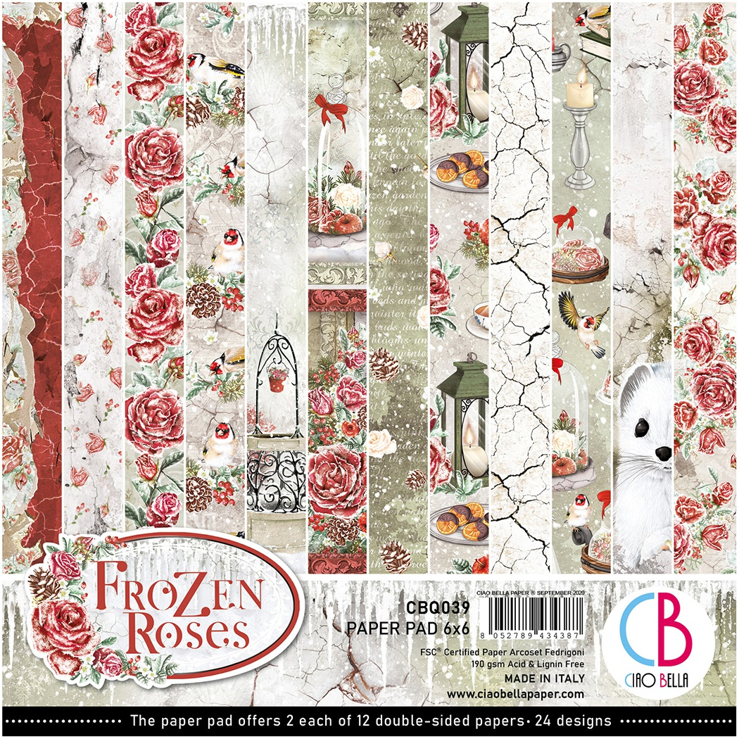 Ciao Bella Frozen Roses 6X6 24/Pkg