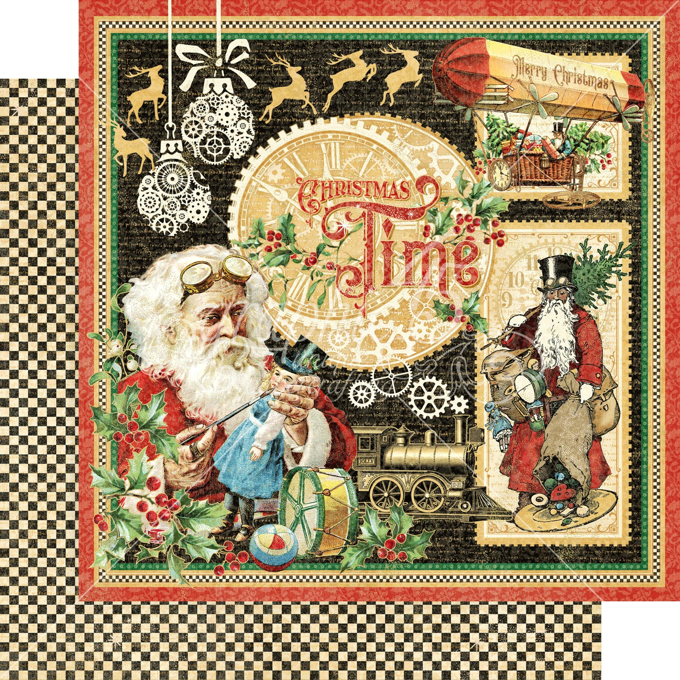 Christmas Time Double-Sided Cardstock 12X12-Christmas Time