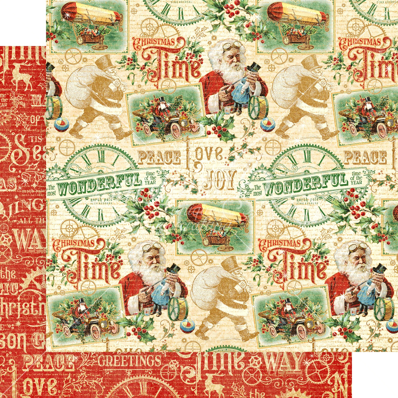 Christmas Time Double-Sided Cardstock 12X12-Believe In Magic