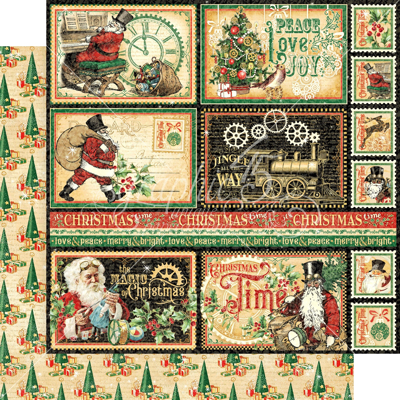 Christmas Time Double-Sided Cardstock 12X12-North Pole Express