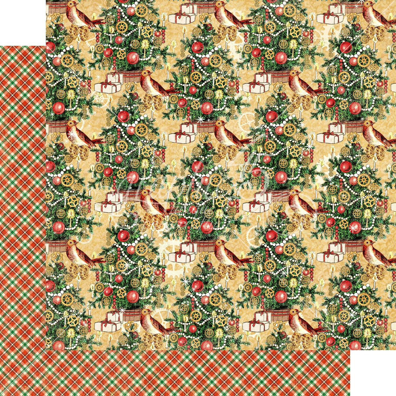 Christmas Time Double-Sided Cardstock 12X12-Trim The Tree