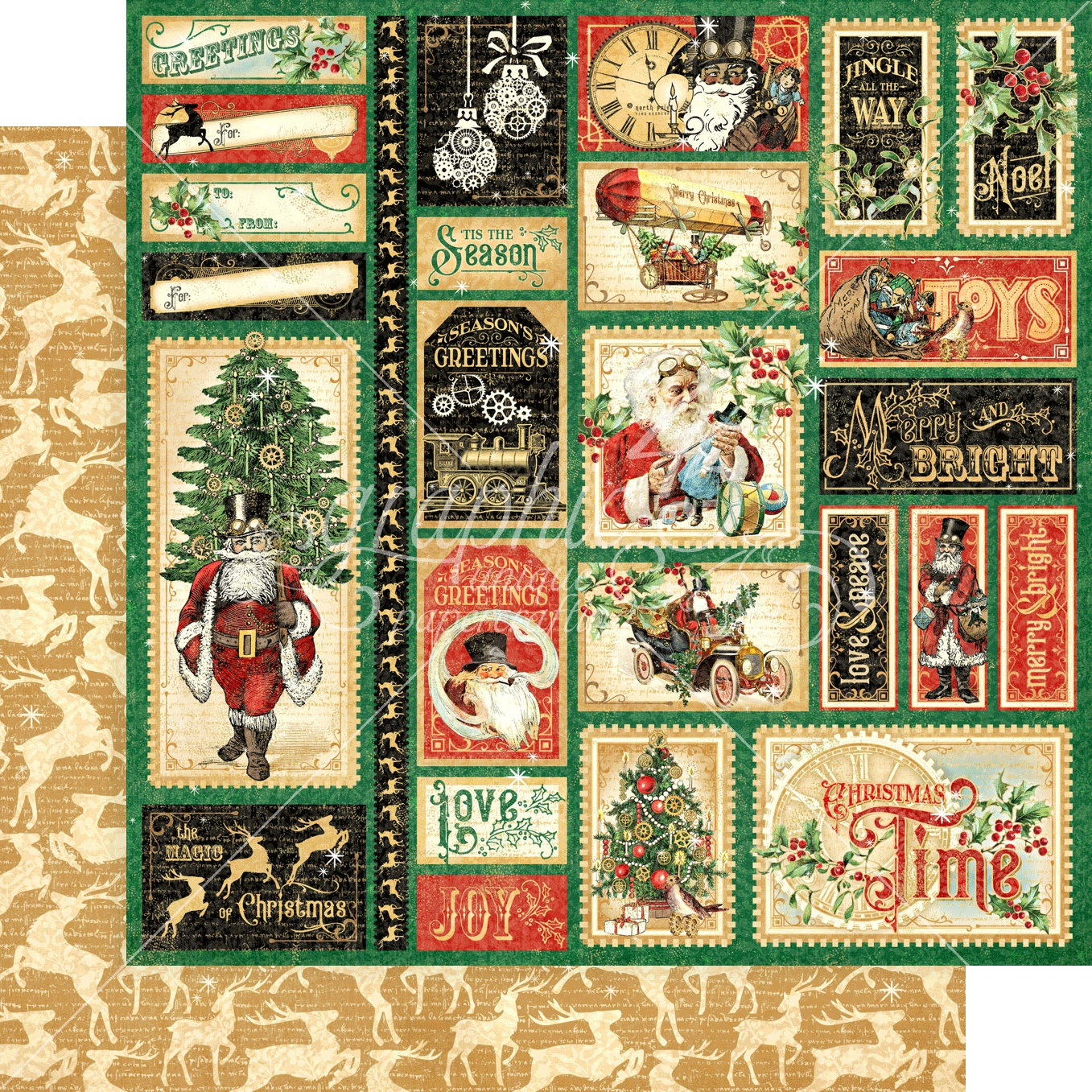 Christmas Time Double-Sided Cardstock 12X12-Jingle All The Way