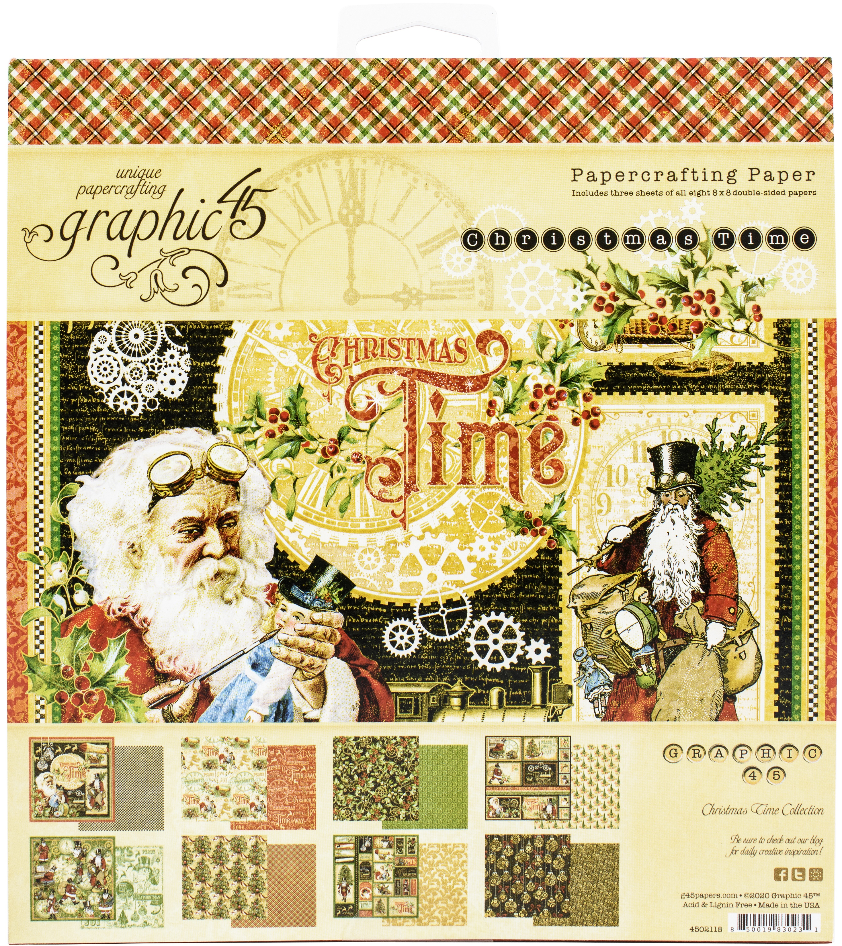 Graphic 45 Double-Sided Paper Pad 8X8 24/Pkg-Christmas Time