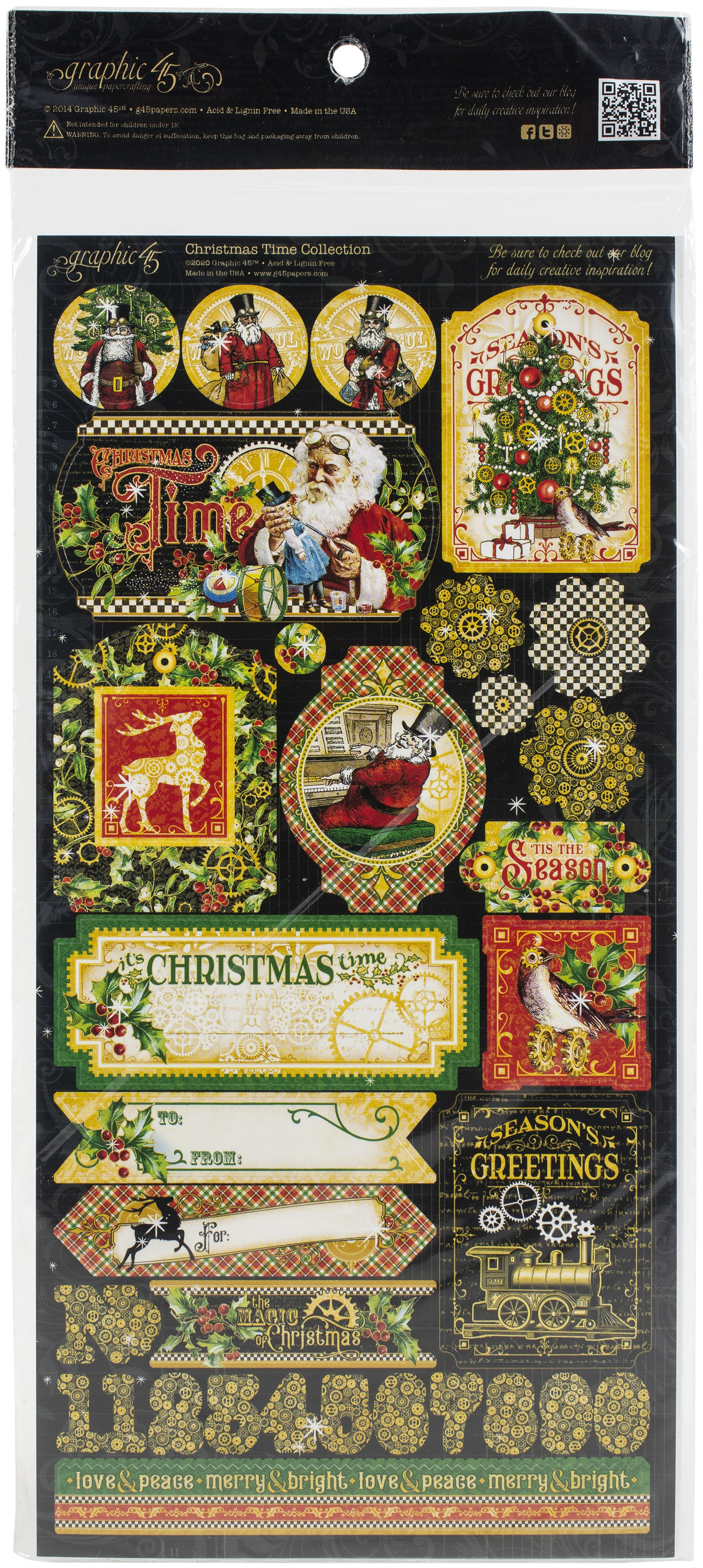 Christmas Time Cardstock Stickers 12X12-