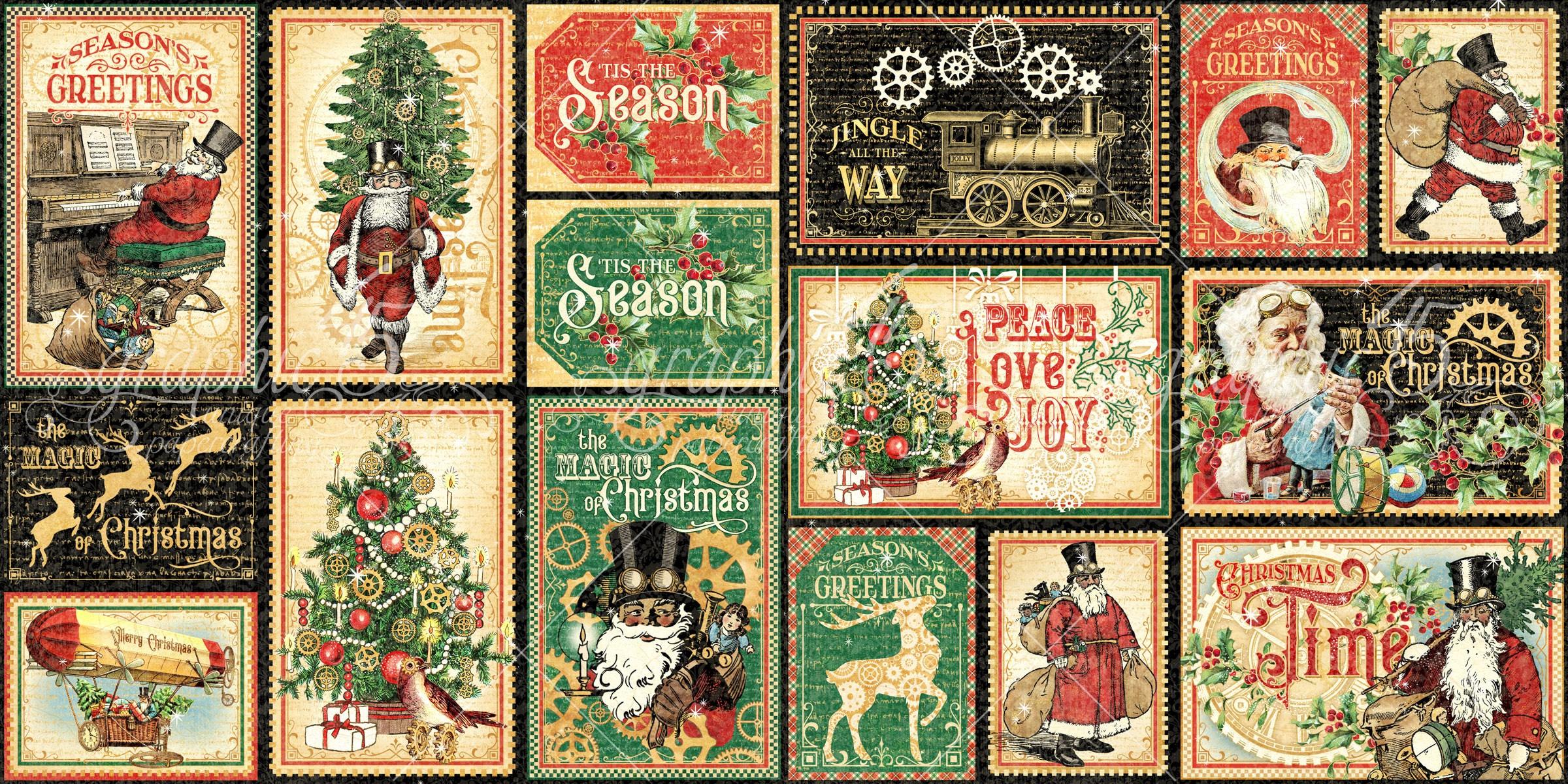 Christmas Time Ephemera & Journaling Cards-
