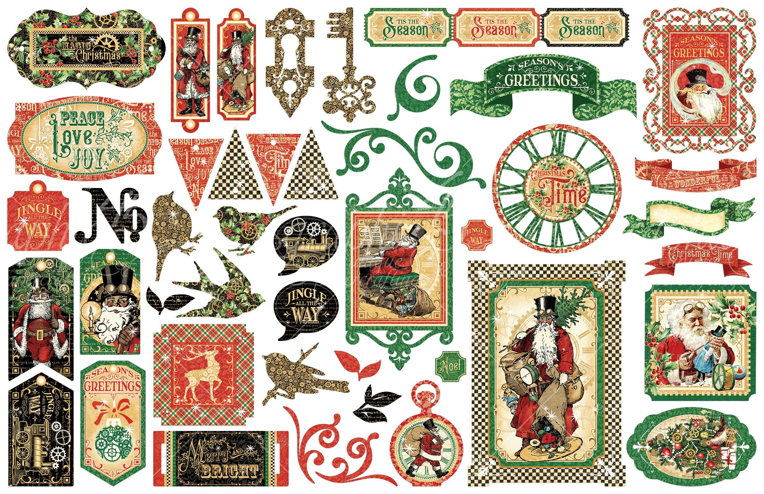 Christmas Time Cardstock Die-Cut Assortment-