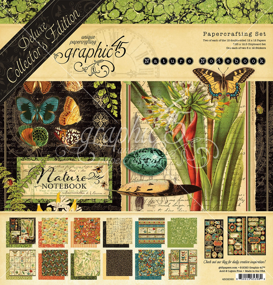 Graphic 45 Deluxe Collector's Edition Pack 12X12-Natures Notebook