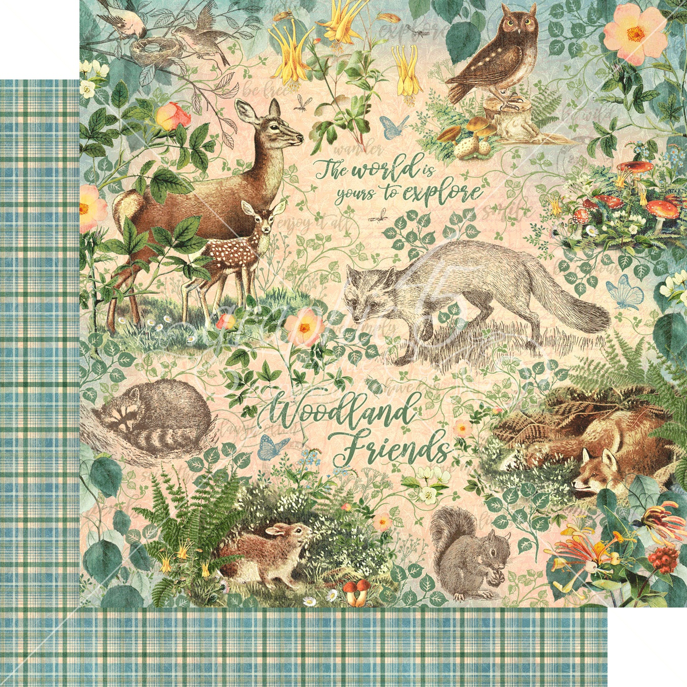 Woodland Friends Double-Sided Cardstock 12X12-CLICK TO SEE MORE