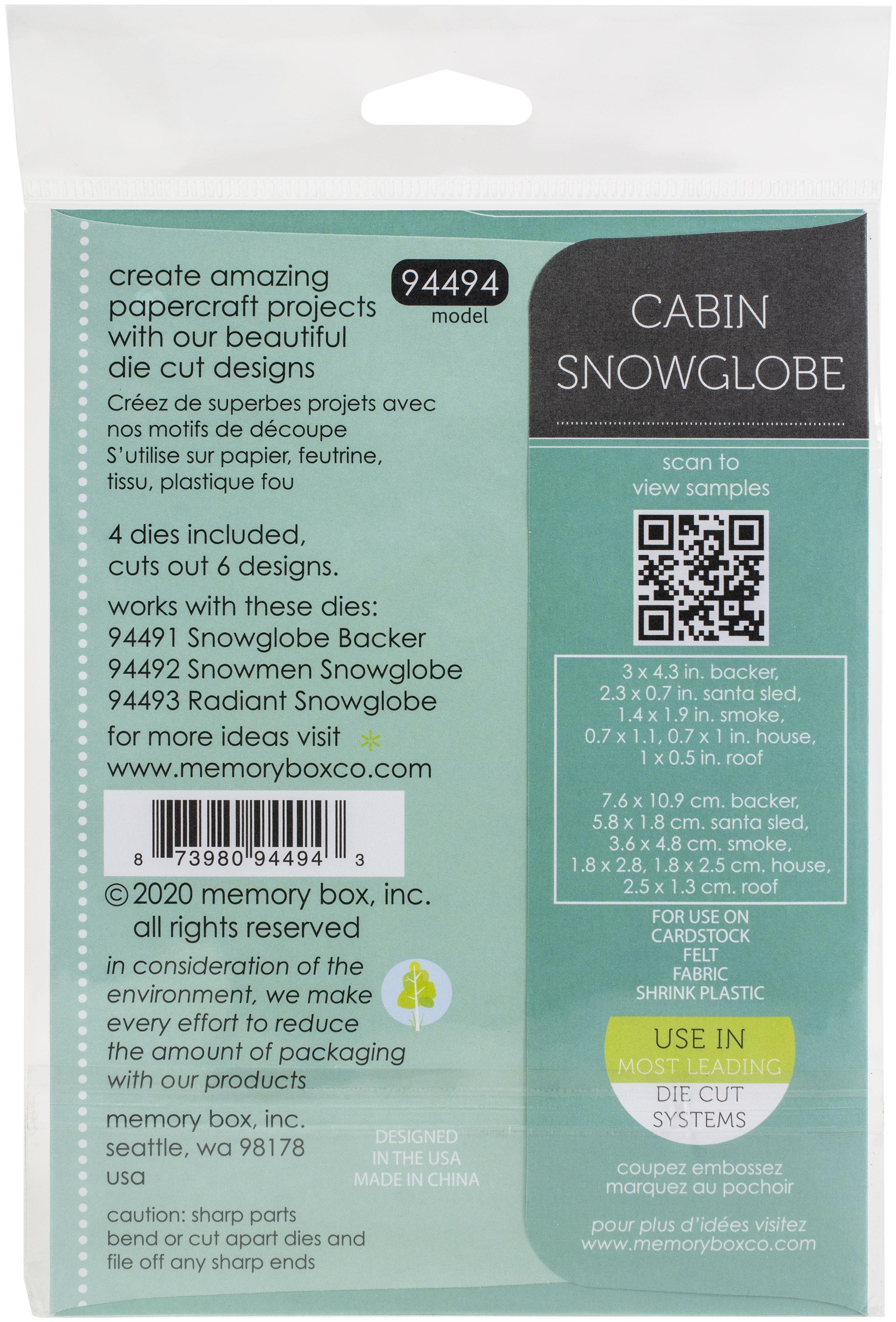 Memory Box Dies-Cabin Snowglobe