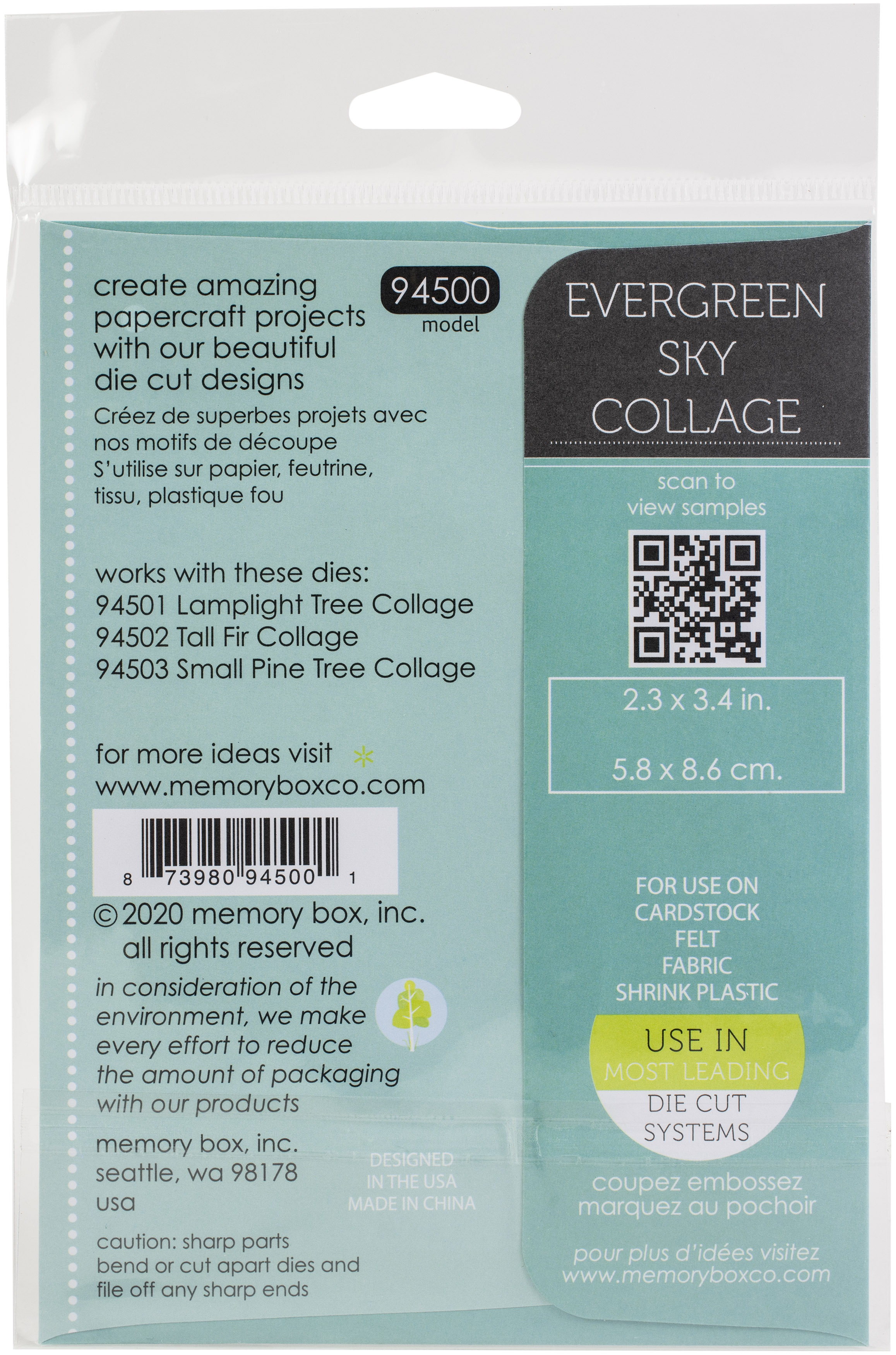 Memory Box Dies-Evergreen Sky Collage
