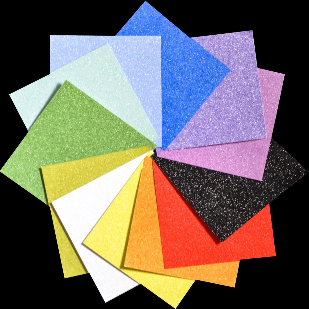 Glitter Paper Pad 6X6 24/Pkg-Frosted