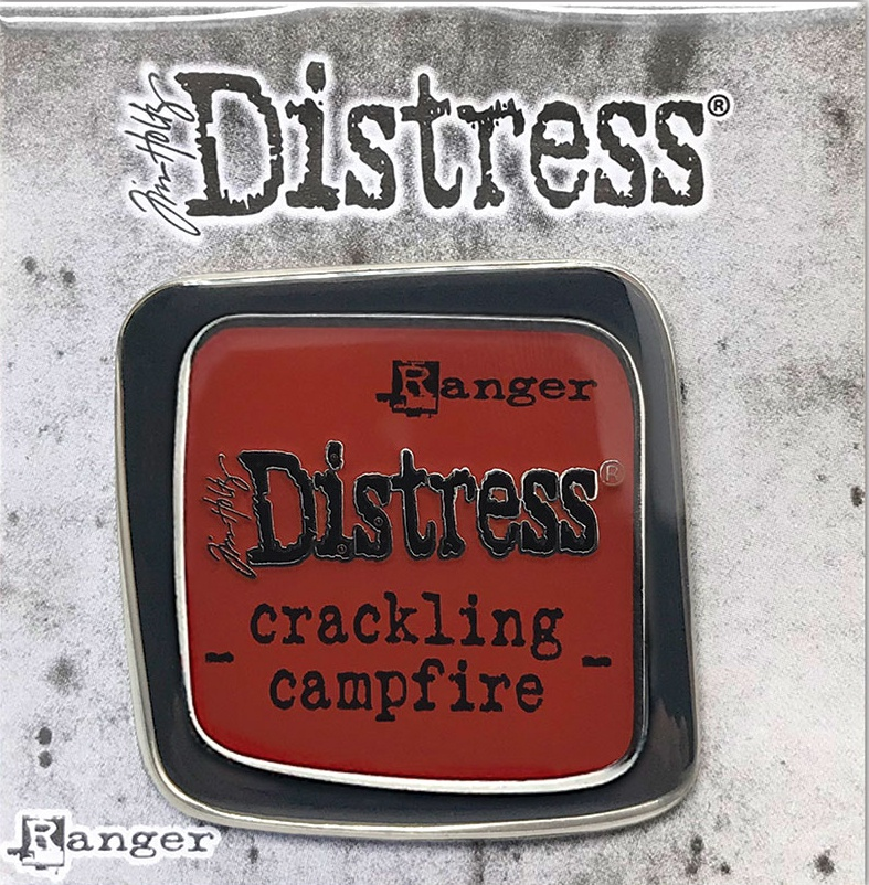 Tim Holtz Distress Enamel Collector Pin-Crackling Campfire