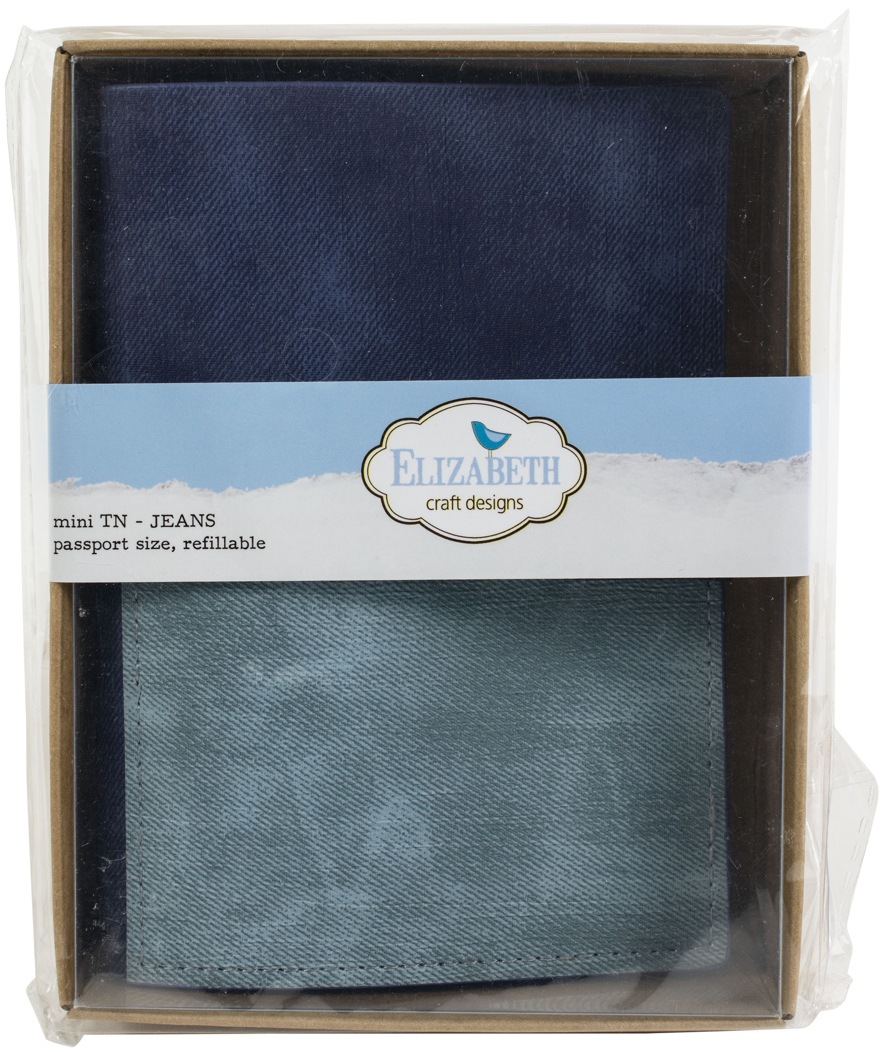 Elizabeth Craft Traveler's Notebook 4.88X3.5-Jeans