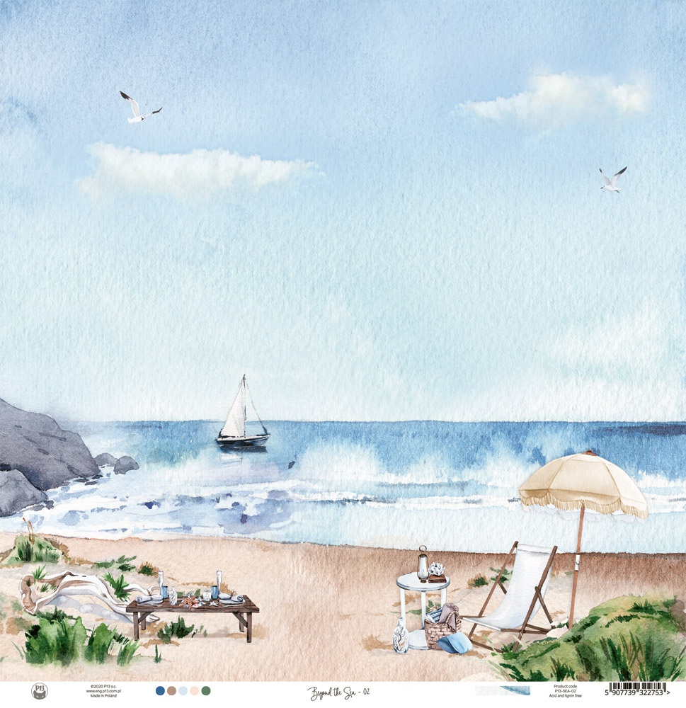 Beyond The Sea Double-Sided Cardstock 12X12-#01