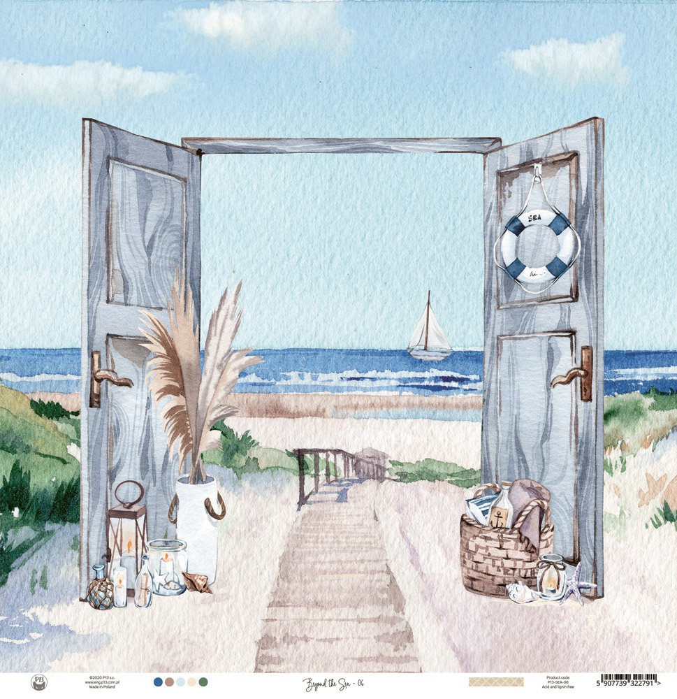 Beyond The Sea Double-Sided Cardstock 12X12-#04