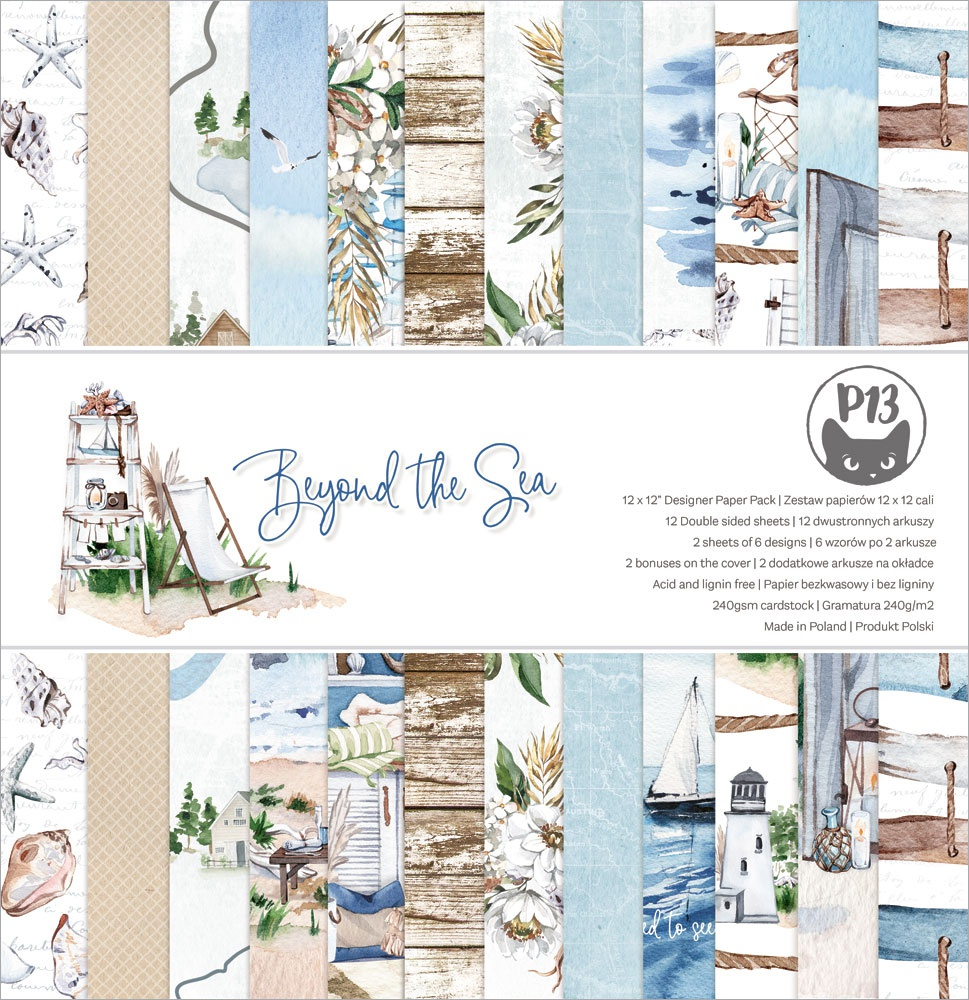 P13 Double-Sided Paper Pad 12X12 12/Pkg-Beyond The Sea