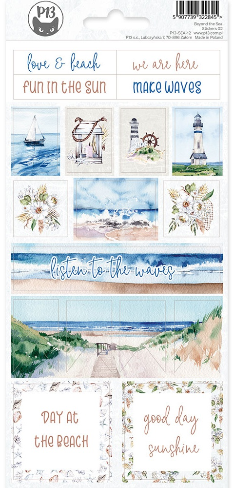 Beyond The Sea Cardstock Stickers 4X9-#02