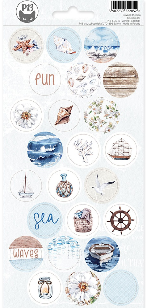 Beyond The Sea Cardstock Stickers 4X9-#03