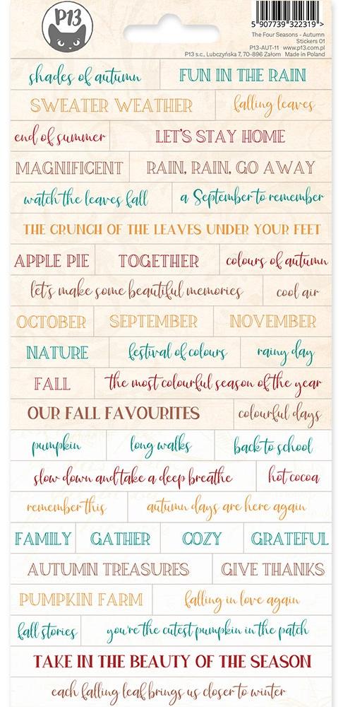 The Four Seasons-Autumn Cardstock Stickers 4X9-#01