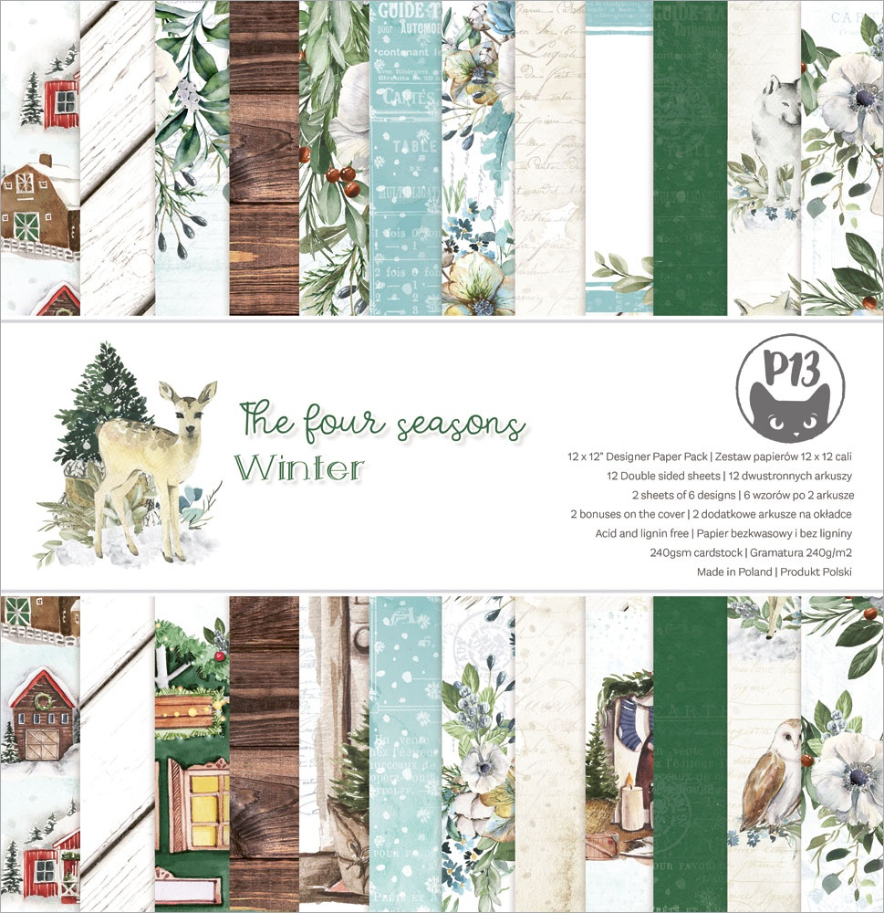 P13 Double-Sided Paper Pad 12X12 12/Pkg-The Four Seasons-Winter