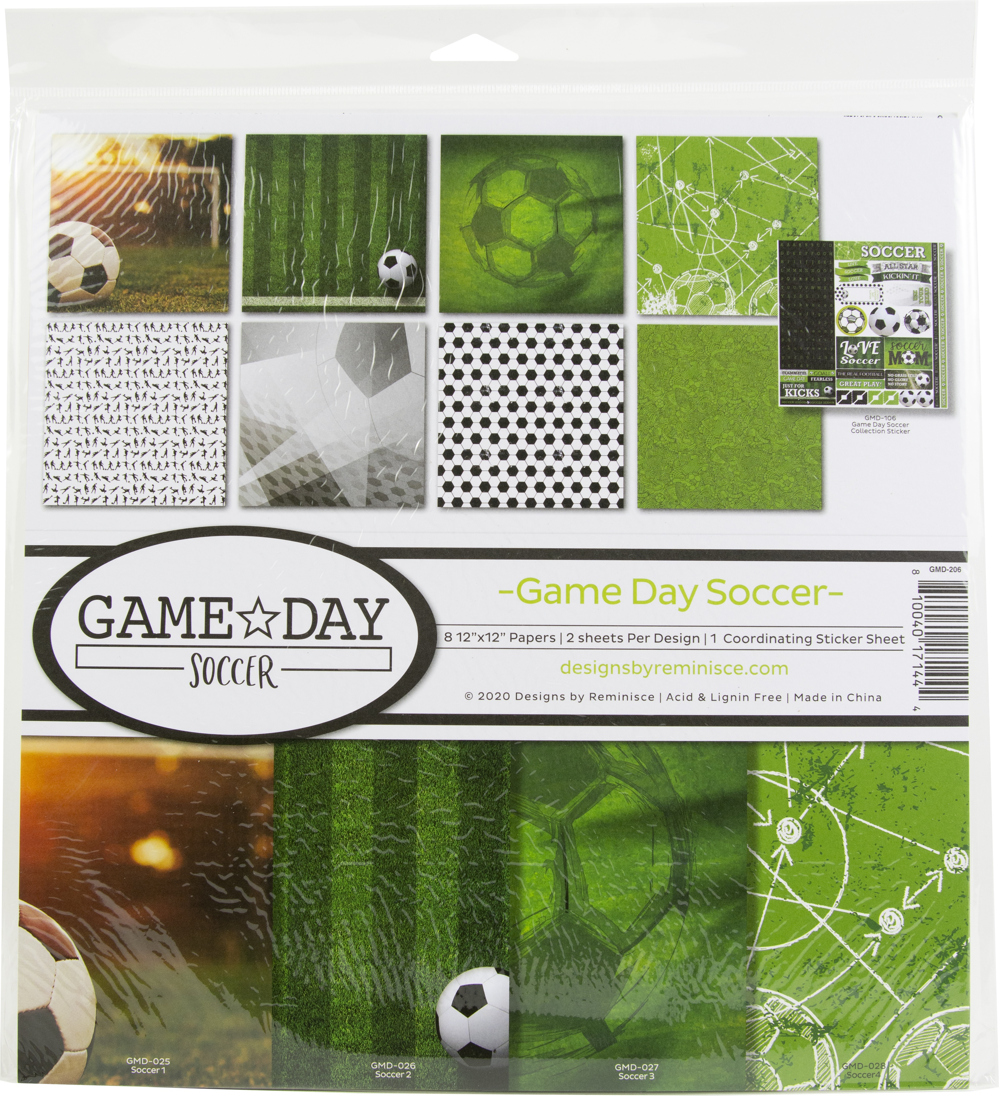 Reminisce Collection Kit 12X12 - Game Day Soccer