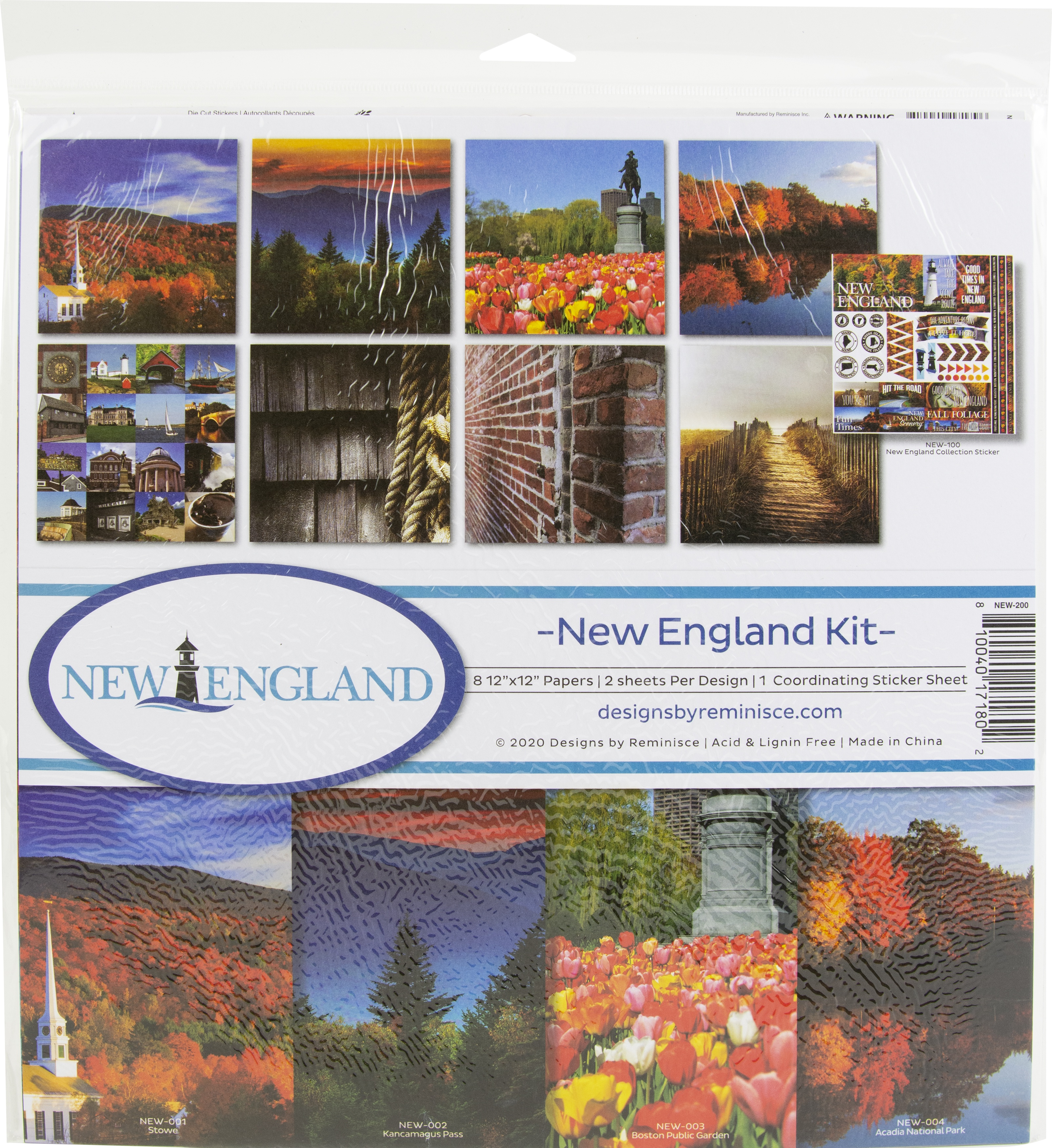 Reminisce Collection Kit 12X12-New England