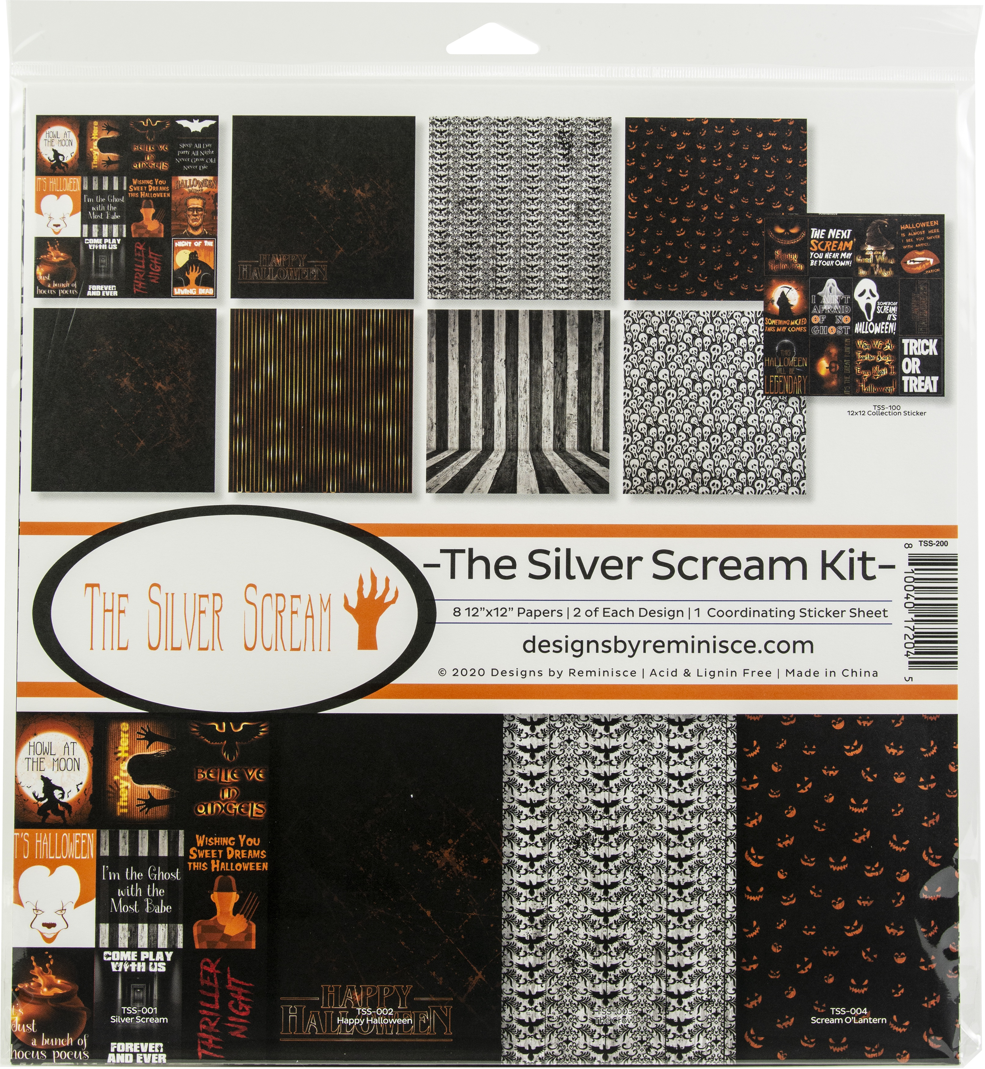 Reminisce Collection Kit 12X12-The Silver Scream