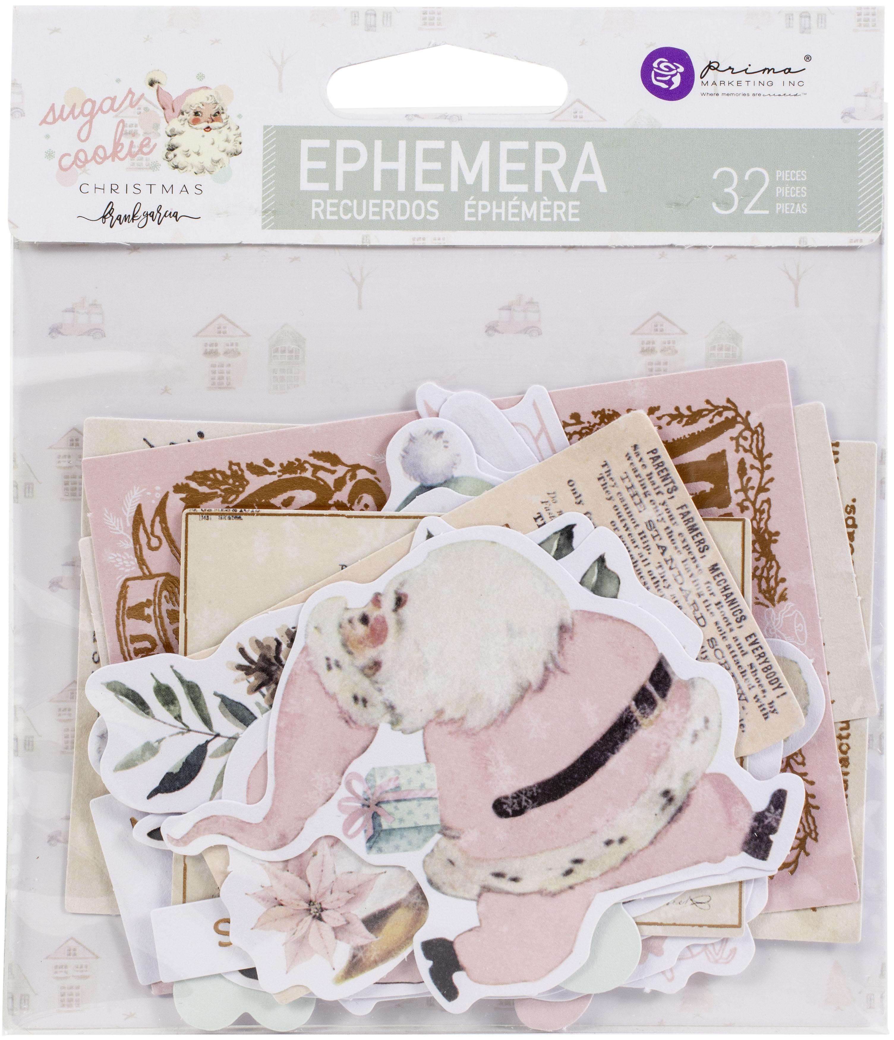 Sugar Cookie By Frank Garcia Cardstock Ephemera 32/Pkg-Shapes, Tags, Words, Foil...