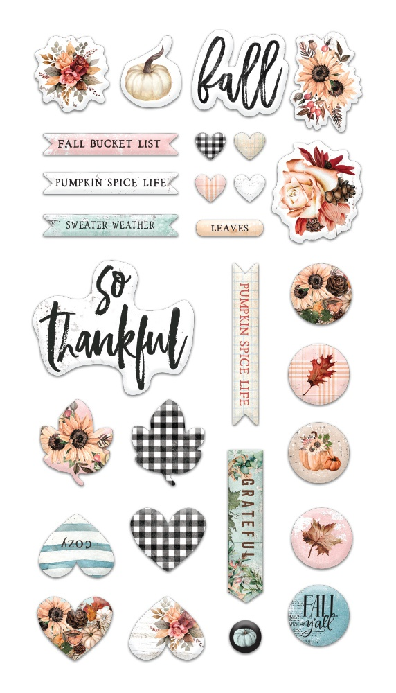 Pumpkin & Spice Puffy Stickers 29/Pkg-