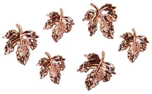 Pumpkin & Spice Metal Charms 6/Pkg-Leaves