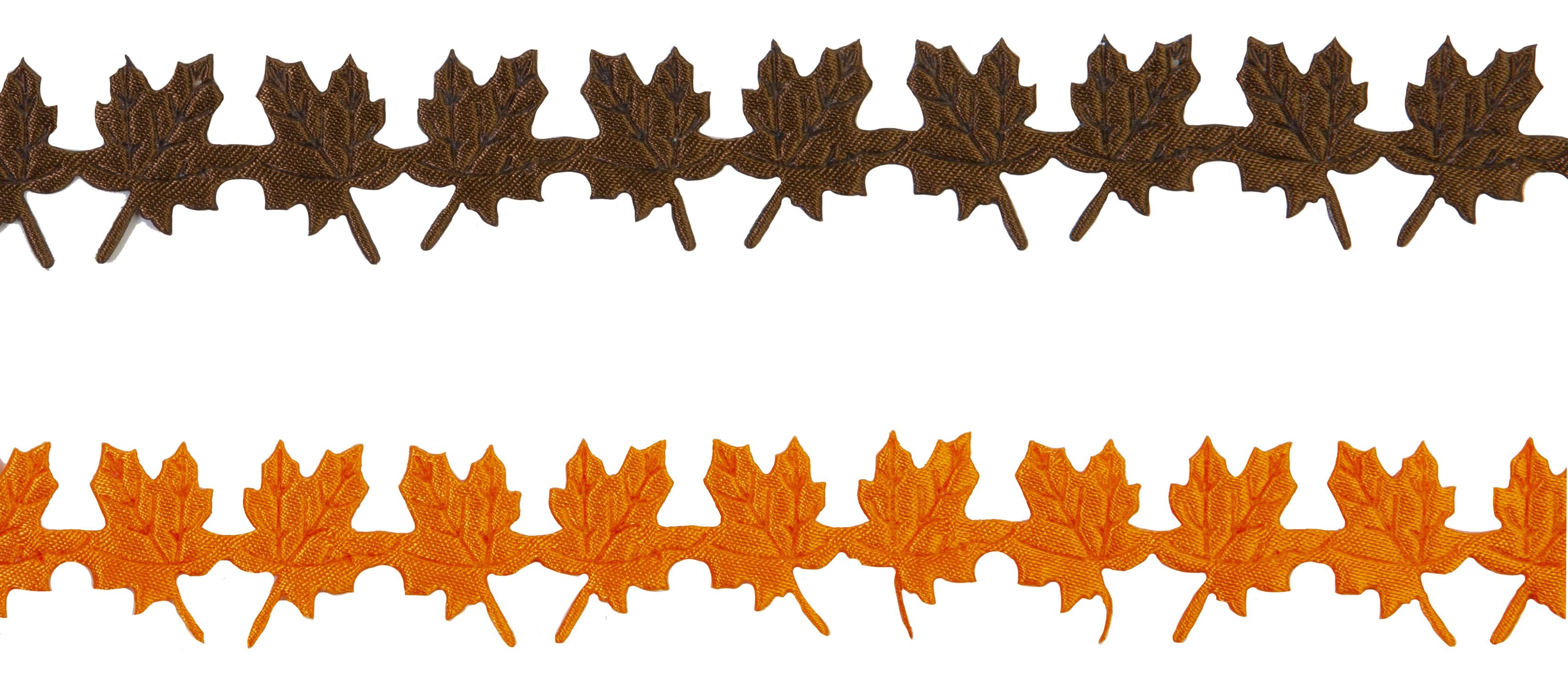 Pumpkin & Spice Trims-2 Colors, 2 Yards Each