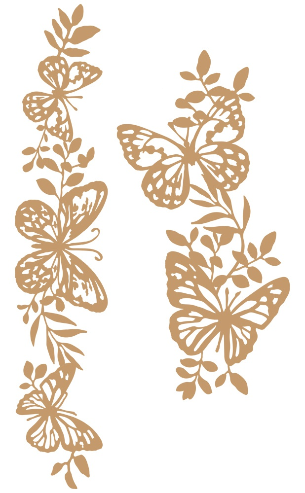 Prima Marketing Laser Cut Chipboard-Butterfly Borders, 2/Pkg