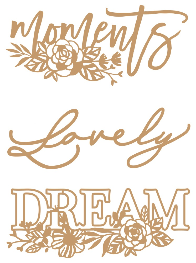 Prima Marketing Laser Cut Chipboard-Words To Live By 2